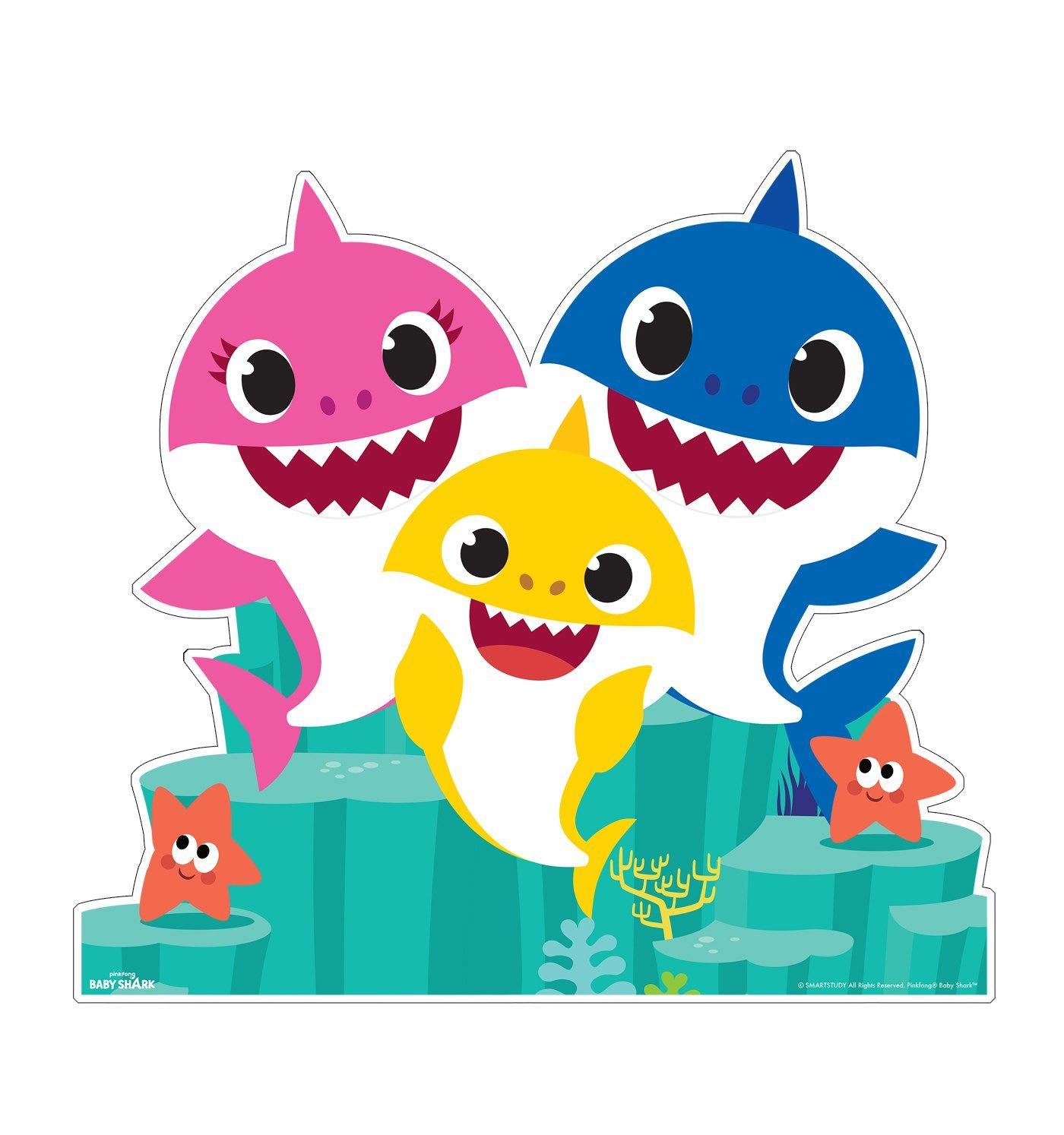 Baby Shark Family Group Cardboard StandUp, 4ft, Motion