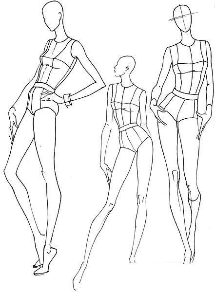 follow me cushite plantillas base figurines de moda poses de
