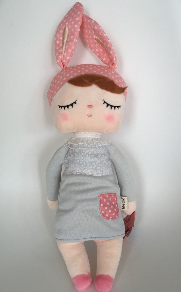 Metoo Doll - Soft Dolls - Pink and Grey Bunny Doll