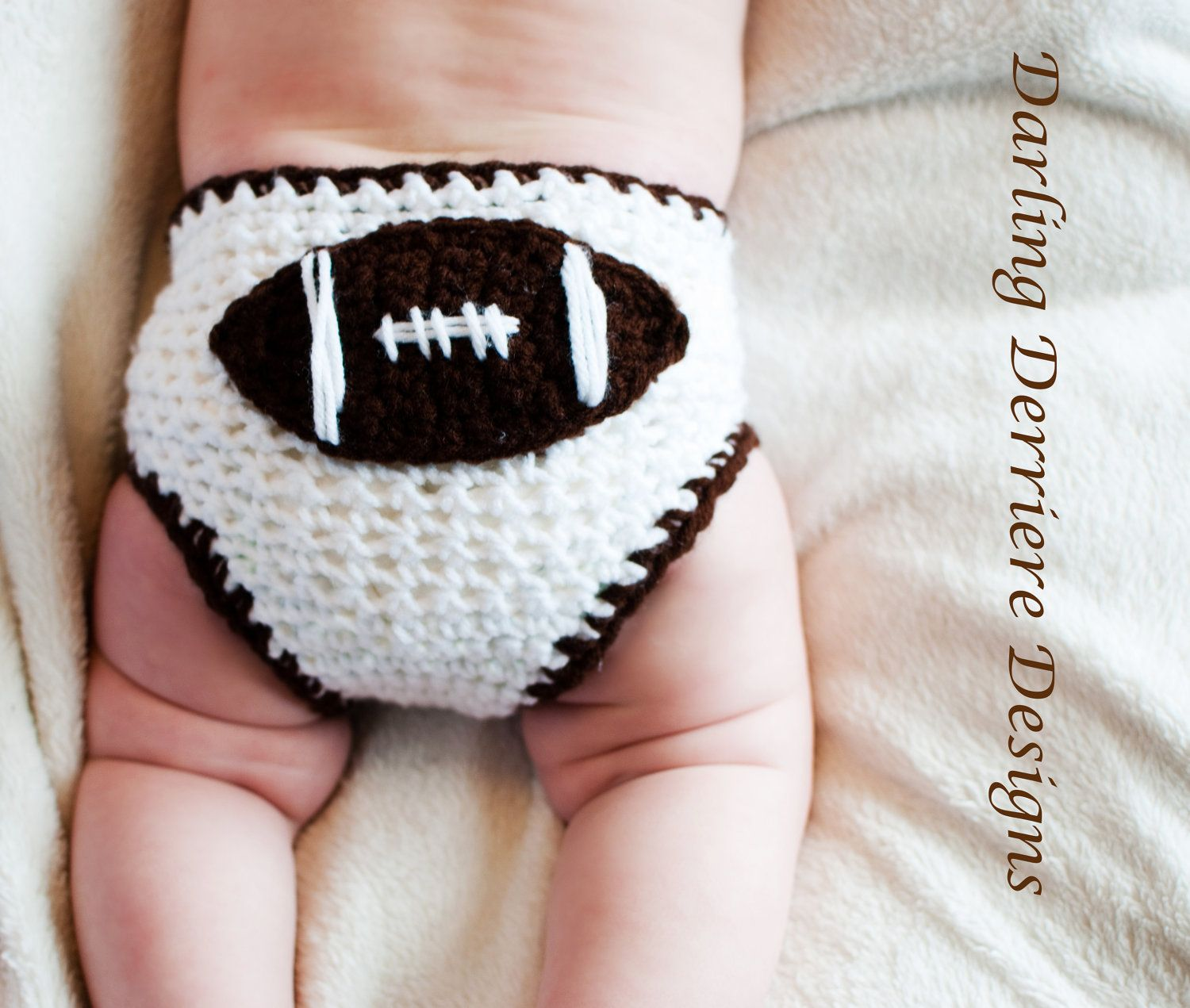 0-3 Month Baby Boy Football Sports Diaper Cover- Ready to Ship