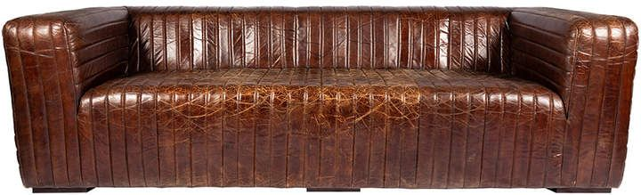 Moe S Home Collection Castle Sofa Brown