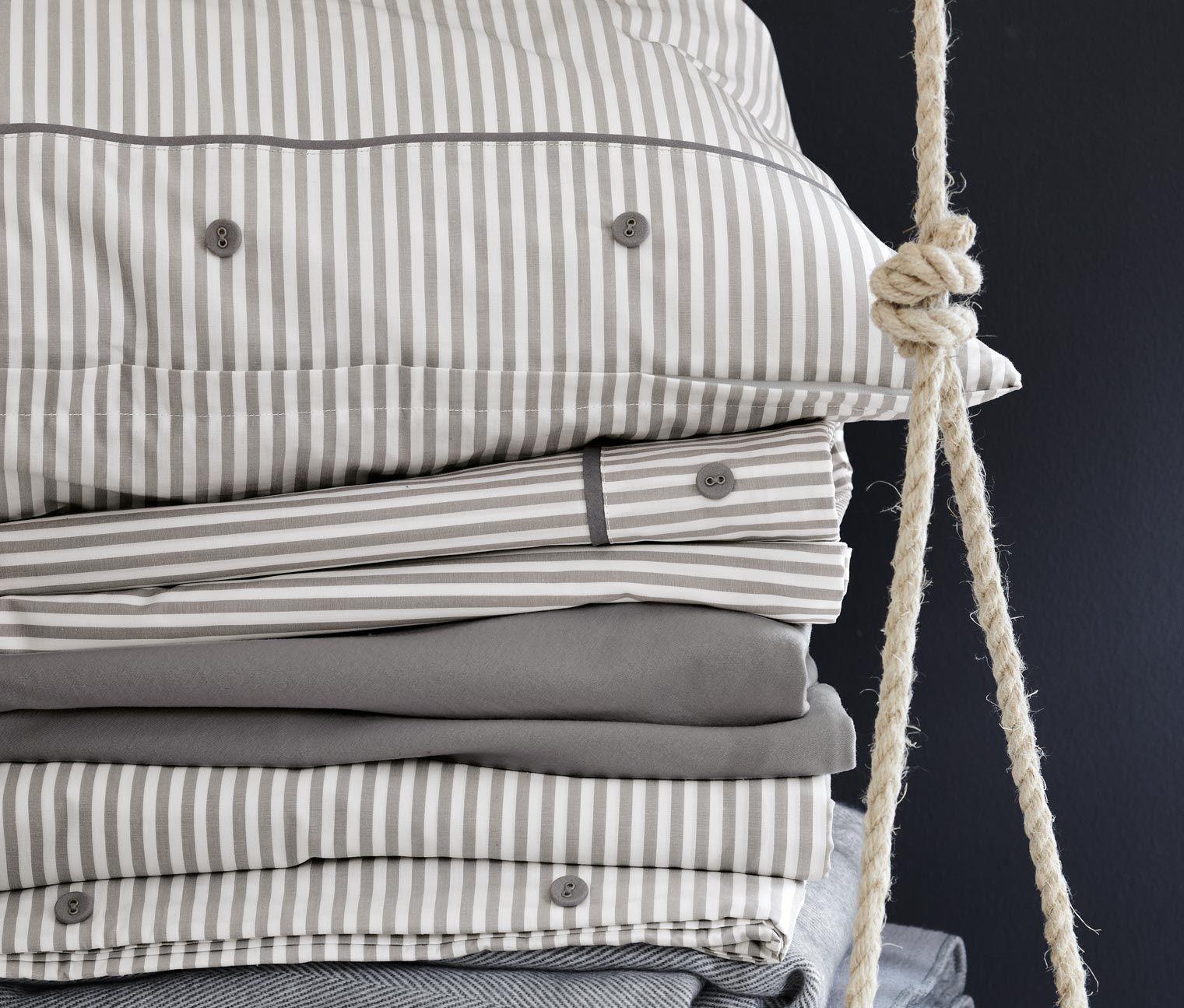 perkal bettw sche tchibo grau gestreift stripes 34 95 buy home. Black Bedroom Furniture Sets. Home Design Ideas