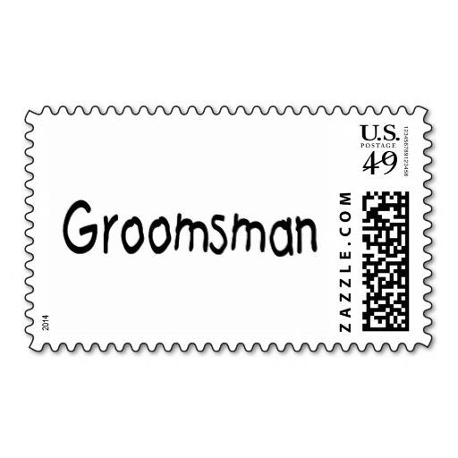 Groomsman (Blk) Stamp. This is a fully customizable business card and available on several paper types for your needs. You can upload your own image or use the image as is. Just click this template to get started!