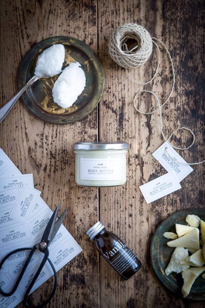 Easy diy three ingredient body butter from a glorious swedish blog.