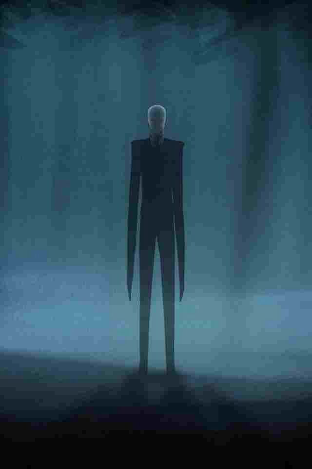 Slender Man Is Said To Have A Tall Appearance And A Lanky In A Black Suit He Is Said To Be Six To Seven Feet And His Unusual Slenderman Creepy Guy Creepy