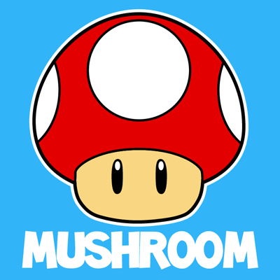 Today we will show you how to draw the mushroom from for How to draw a mushroom