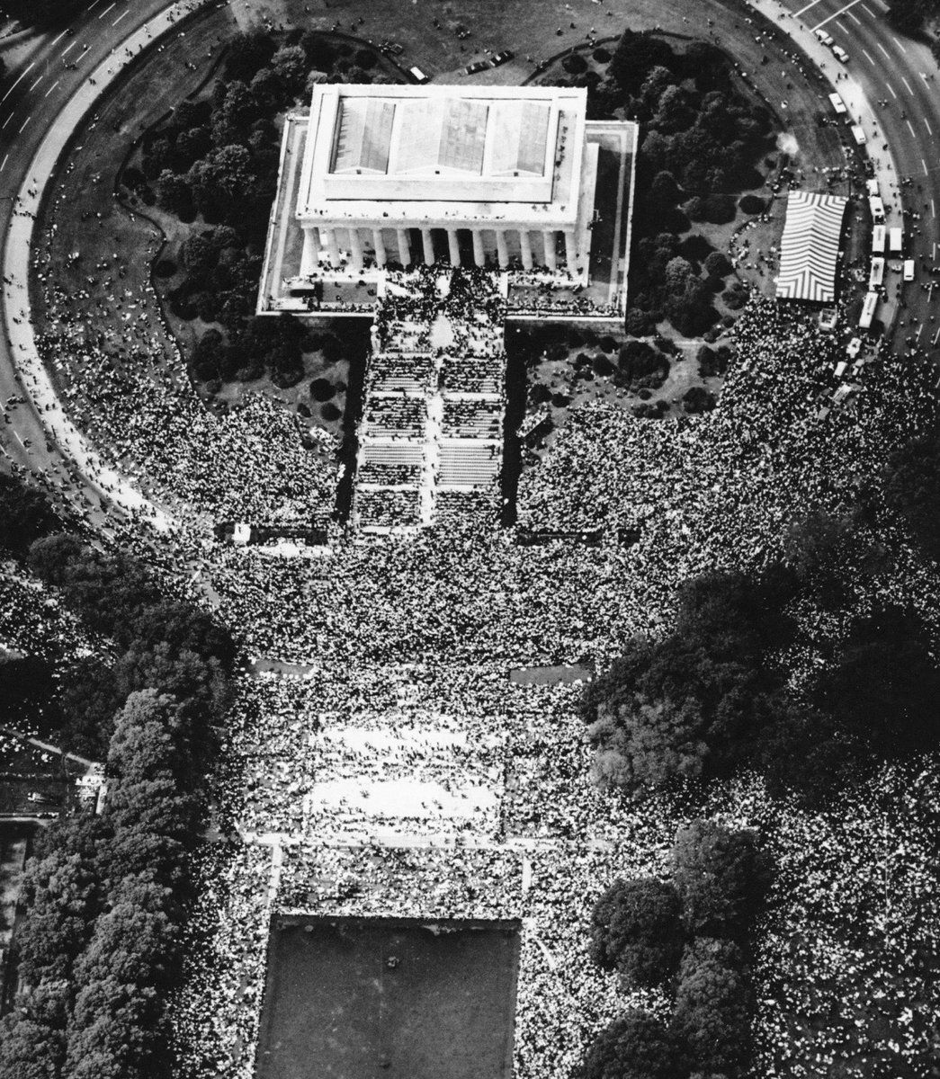 Aerial view of March on Washington, August 1963 History