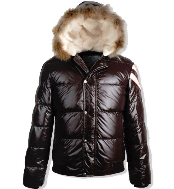We Offer 50% Discount Moncler Alpes Men Fur Down Jacket Brown ...