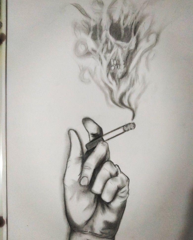 Cigarro Toxico Desenhos Sombreados Minnie Desenho