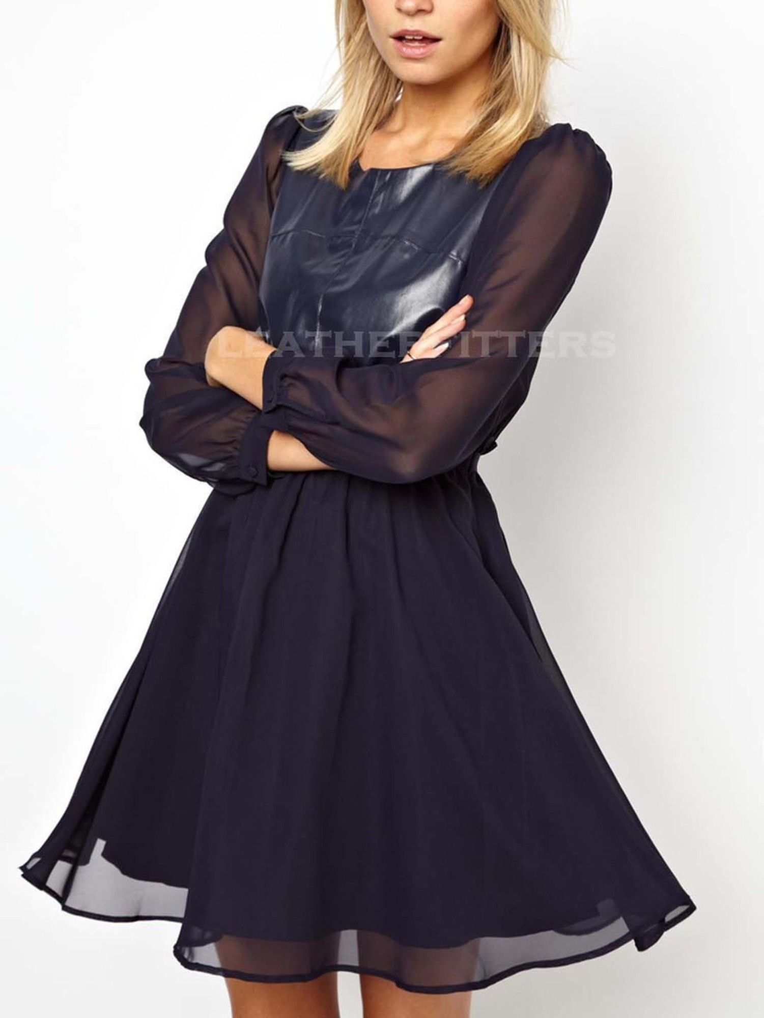 Women leather dresses are now eyecatching an outfit for all