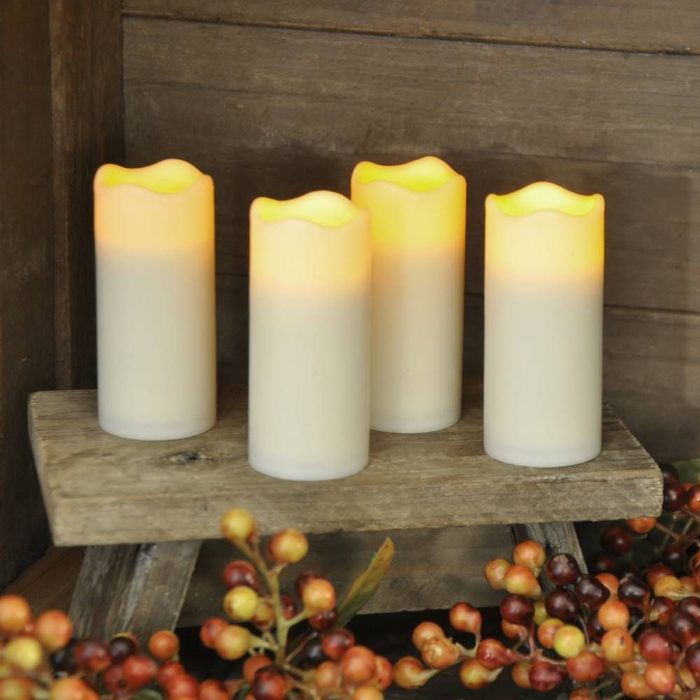 Flameless Votive Candles Flameless Flicker Tall Votive Ivory Candles  S4  Battery Operated