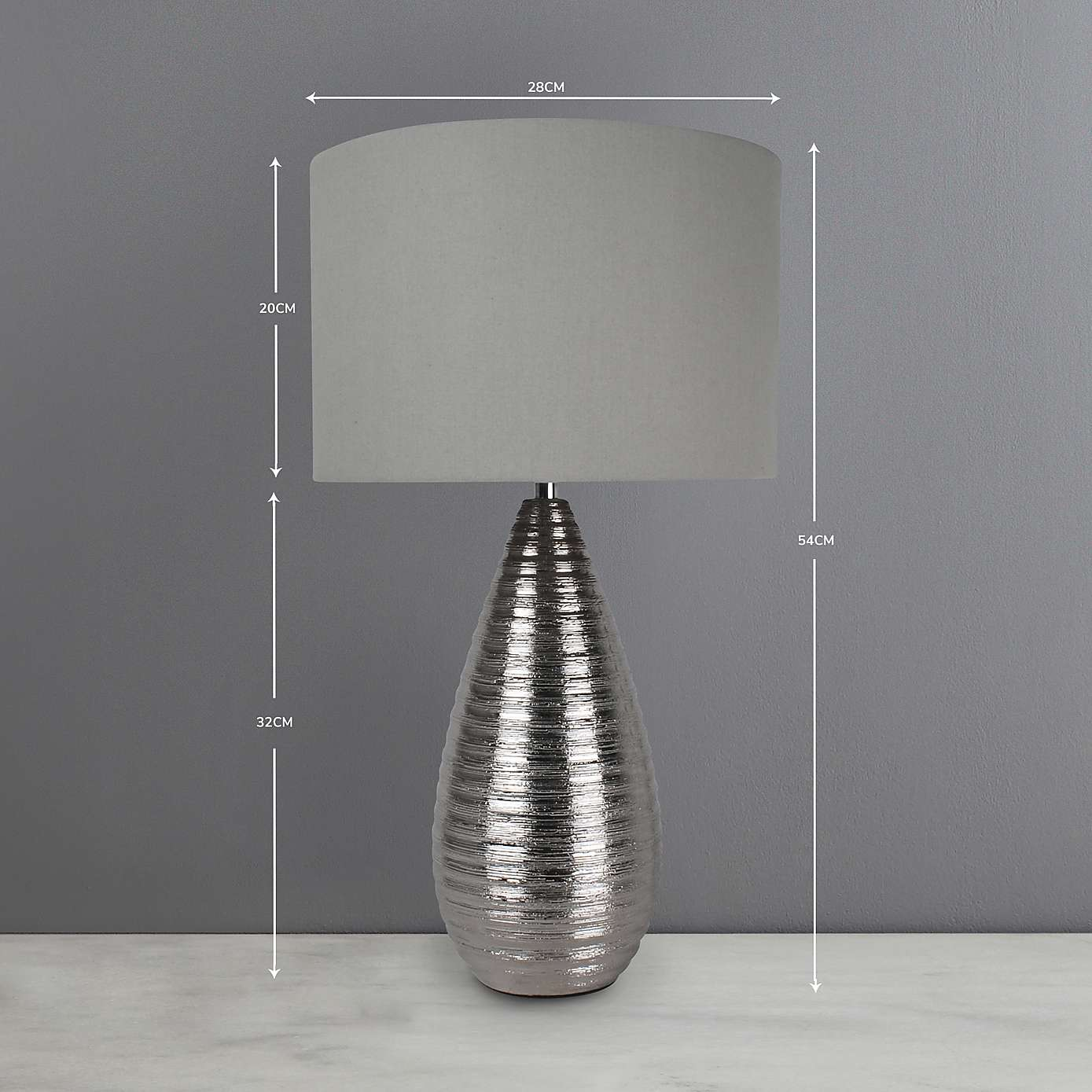 Touch Dimmable Table Lamp –Satin Chrome