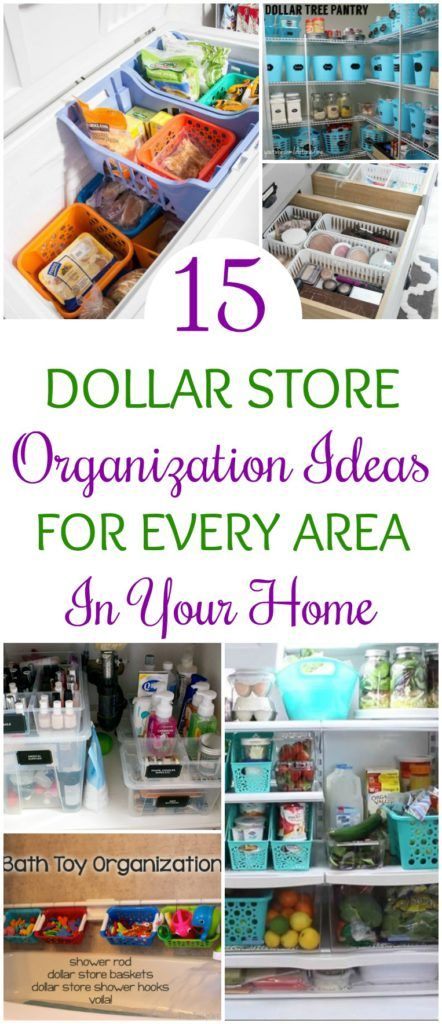 15 Dollar Store Organization Ideas For Every Area In Your Home. OMG! I Love  These Cheap Storage Hacks To Get My Whole House Organized!