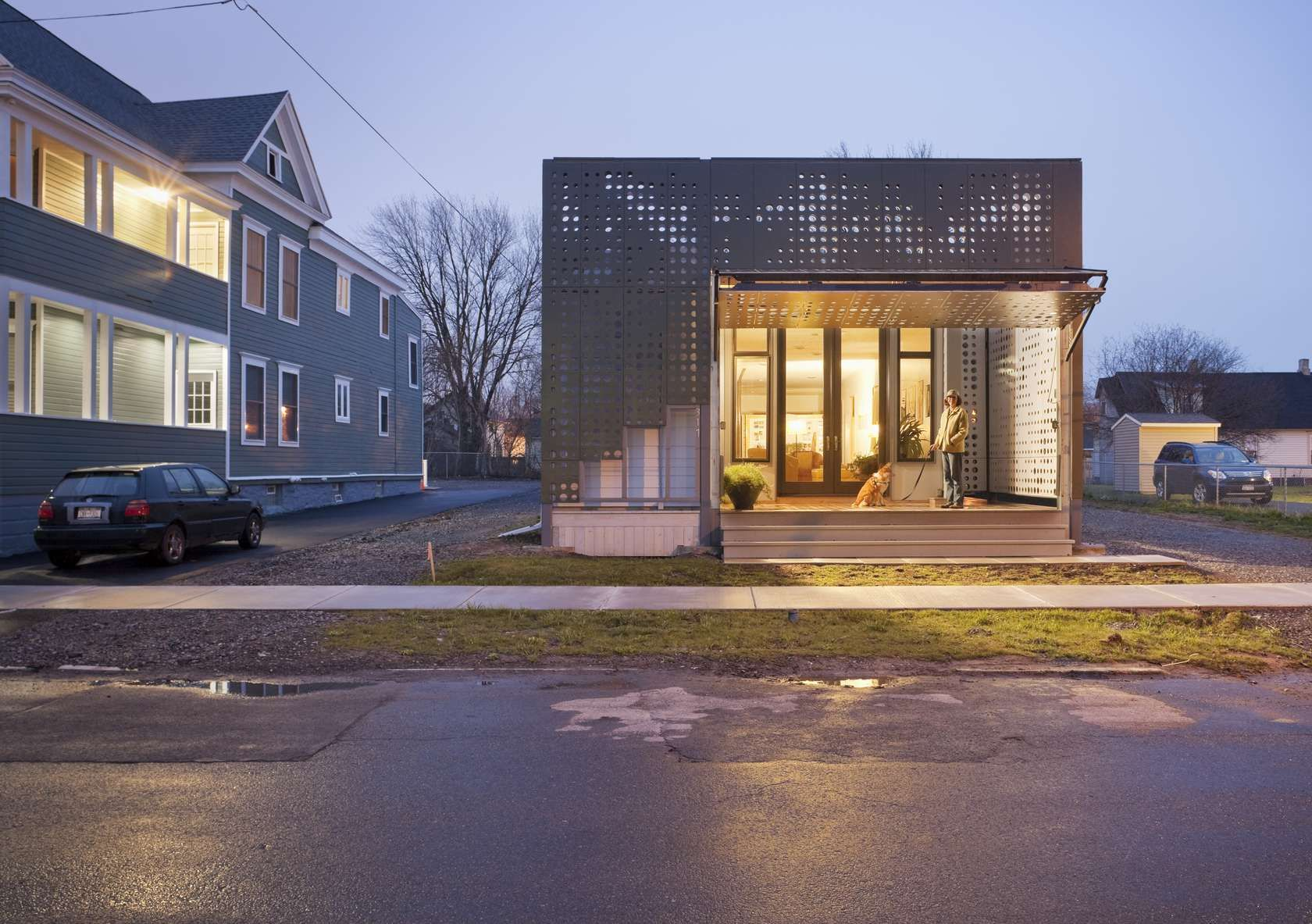 The live work home is a sustainable social response to syracuses 21st century concerns as a post industrial american city inspired by the legend of the