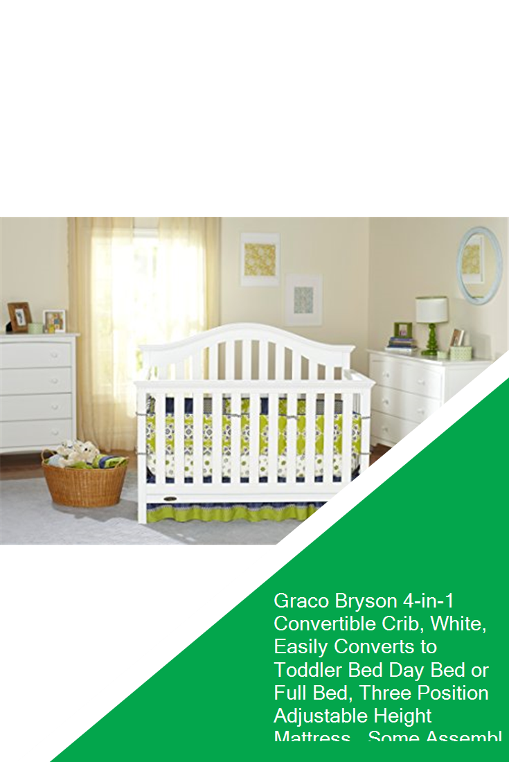 Graco Bryson 4-in-1 Convertible Crib, White, Easily ...