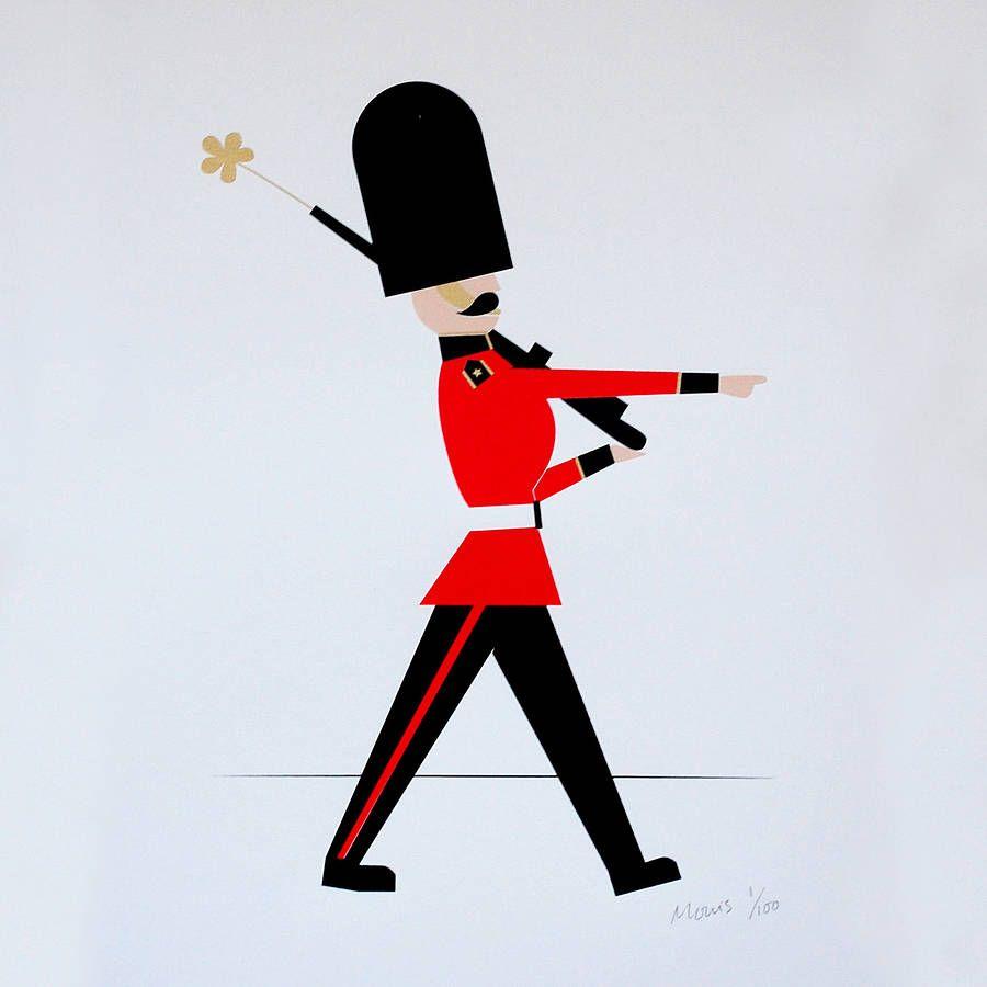 london guard silkscreen print by made by morris   notonthehighstreet.com