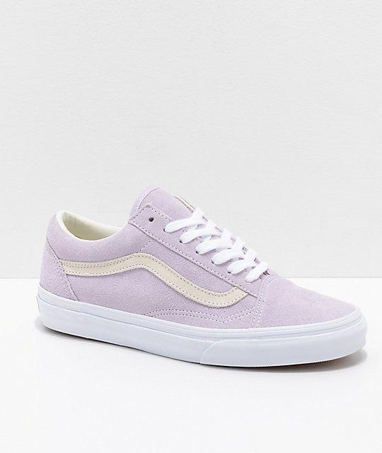 Vans Old Skool Pastel Orchid & White Skate Shoes in 2020