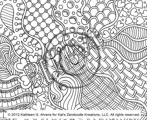 Your Zendoodle Will Not Have A Blur A Copyright Symbol Or The All