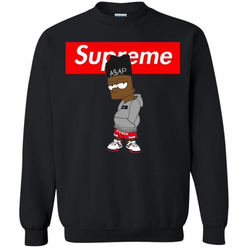 Supreme Bart Simpson Asap Rocky