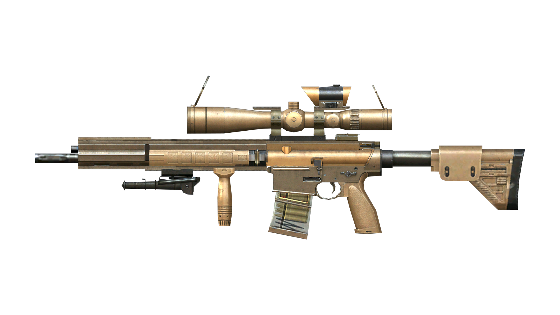 Chrome Sniper With Scope Png Image Sniper Png Images Png
