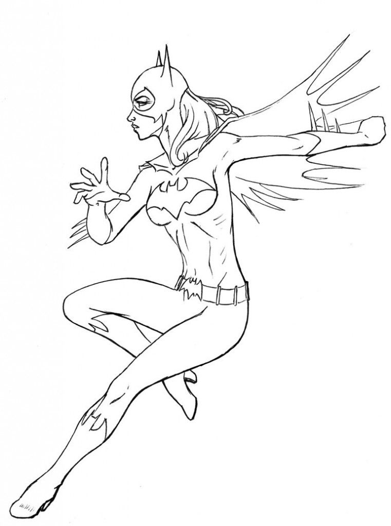 free coloring pages of batgirl
