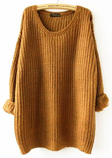 Mustard/Tan loose fitting sweater…warm, comfy, yet VERY chic ...