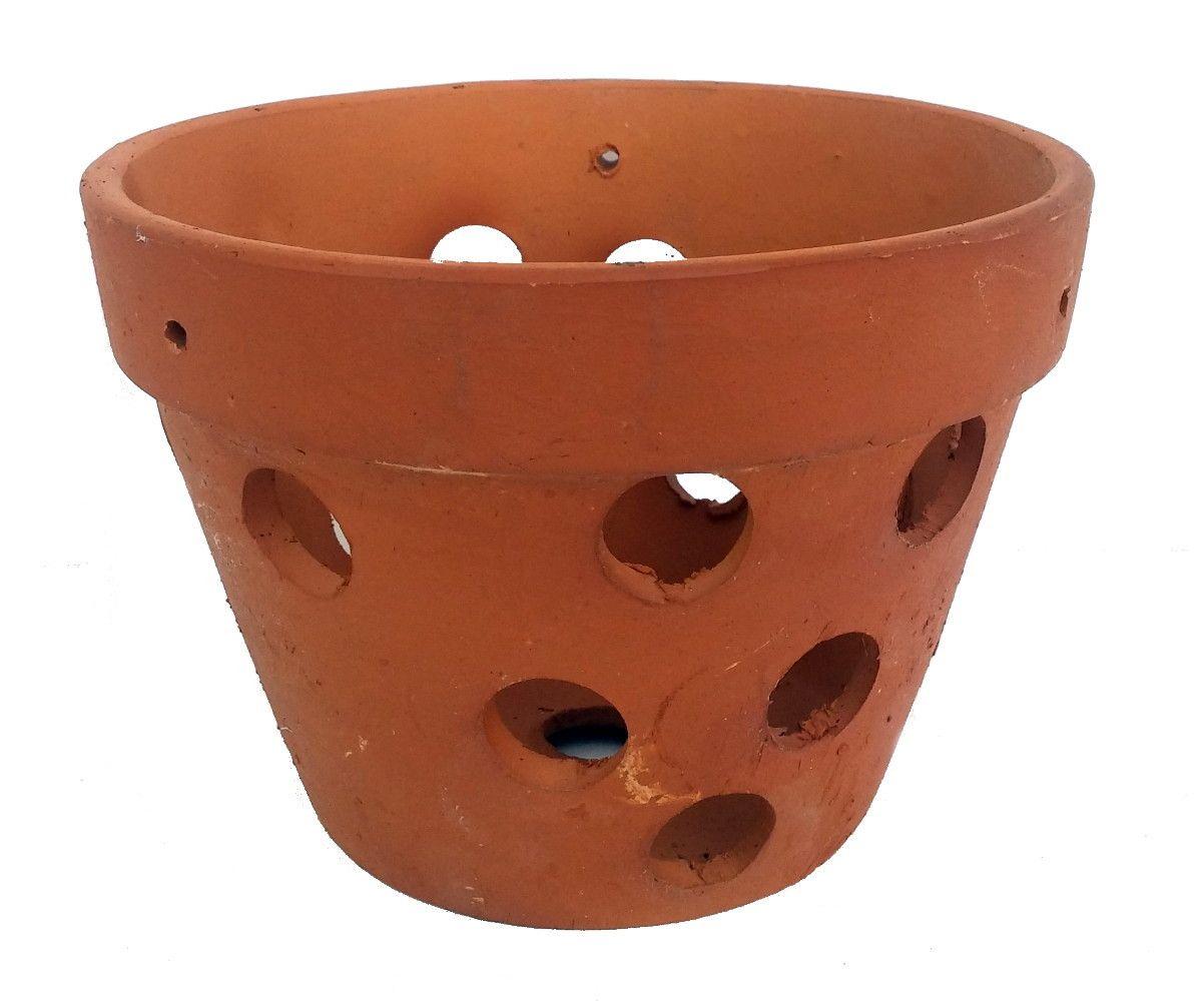 Hand Made Terracotta Clay Orchid Pot 4 5 X 3 5 Hirt S Gardens Clay Orchid Pots Orchid Pot Terra Cotta Orchid Pots