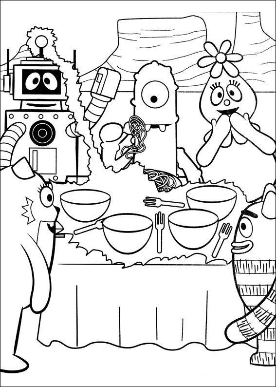 Yo Gabba Gabba Kleurplaten voor kinderen. Kleurplaat en afdrukken tekenen nº 19
