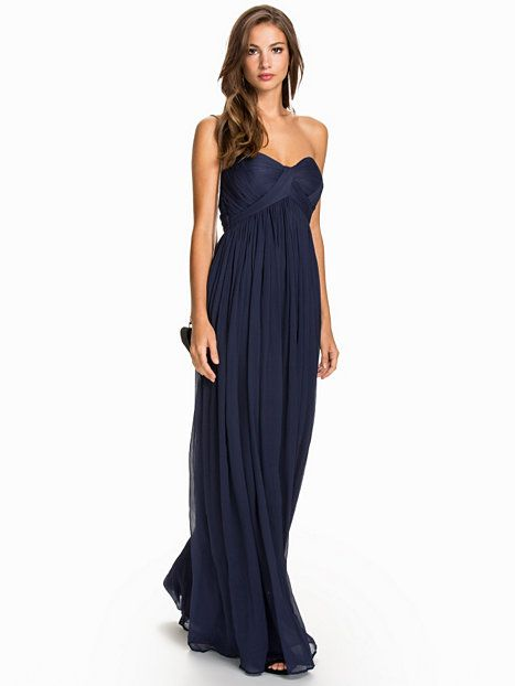 Crincle Chiffon Gown - Nly Eve - Navy - Festklänningar - Kläder - Kvinna -  Nelly.com d5dc9195704f6