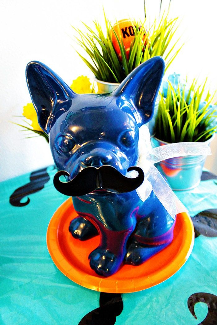 Pupstachio Doggie Birthday Party Decor - B. Lovely Events
