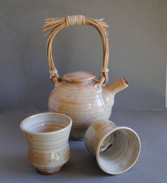 Clay Teapot Set Handmade By Johnmccoypottery On Etsy 85 00 Tea Pots Ceramic Teapots Clay Teapots