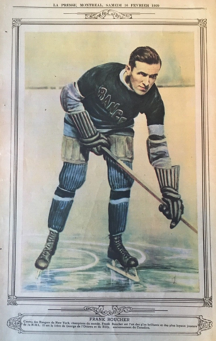 Frank Boucher 1929 La Presse Hockey Photo  5144c6b28