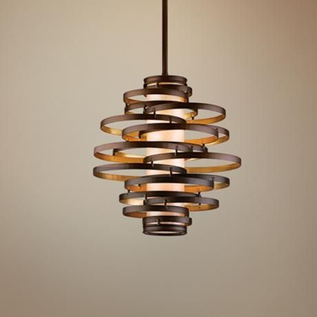 Corbett Vertigo Small Pendant Light 18 W X 5 H 67 Max Hang Height