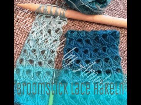 Schal Mit Sternchenmuster Häkeln Anleitung Youtube Knitting