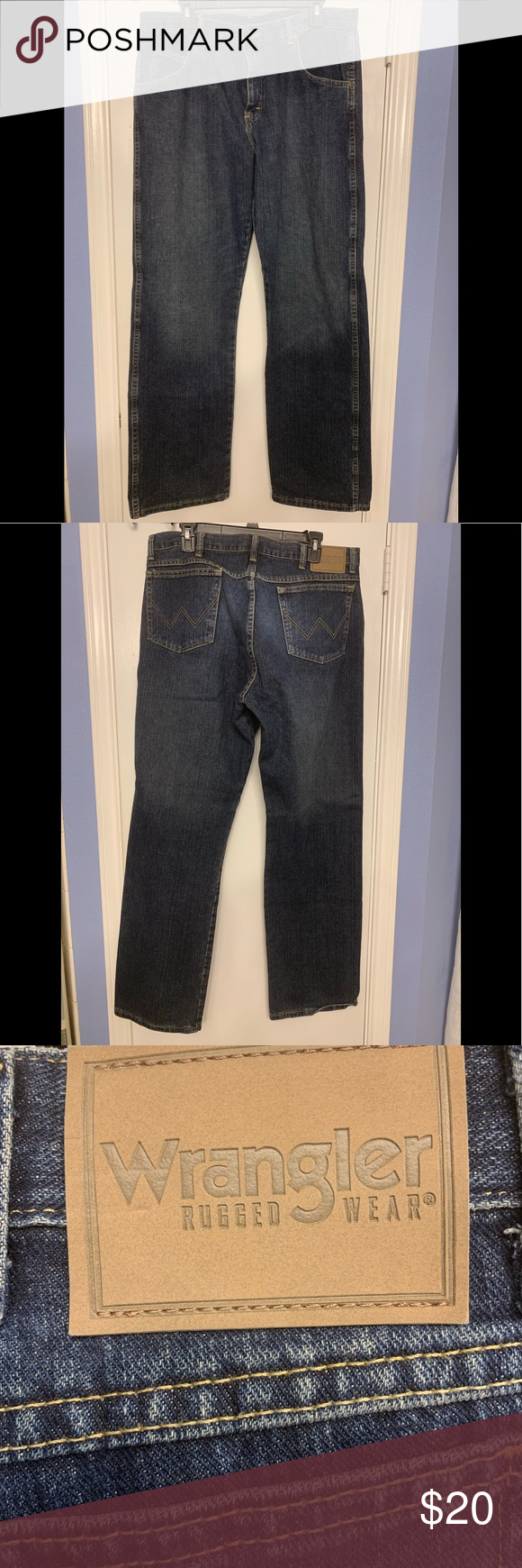 Men S Wrangler Rugged Wear Jeans How To Wear Jeans Wear Wrangler Jeans