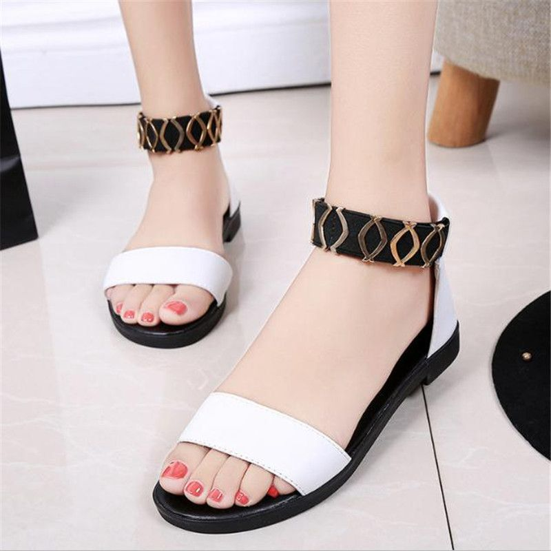 a9c2f39e5e52d Click to Buy    FanFine Women Flat Sandals 2017 Fashion Women Summer Shoes