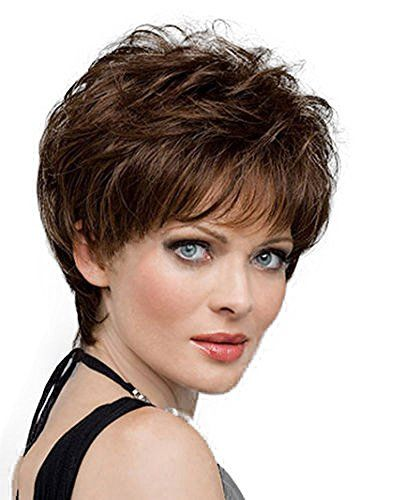 Pin By Diy Wig On Women S Daily Full Head Wig Short Hair