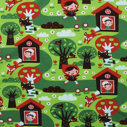 Roodkapje tricot van Bora -bambiblauw.be