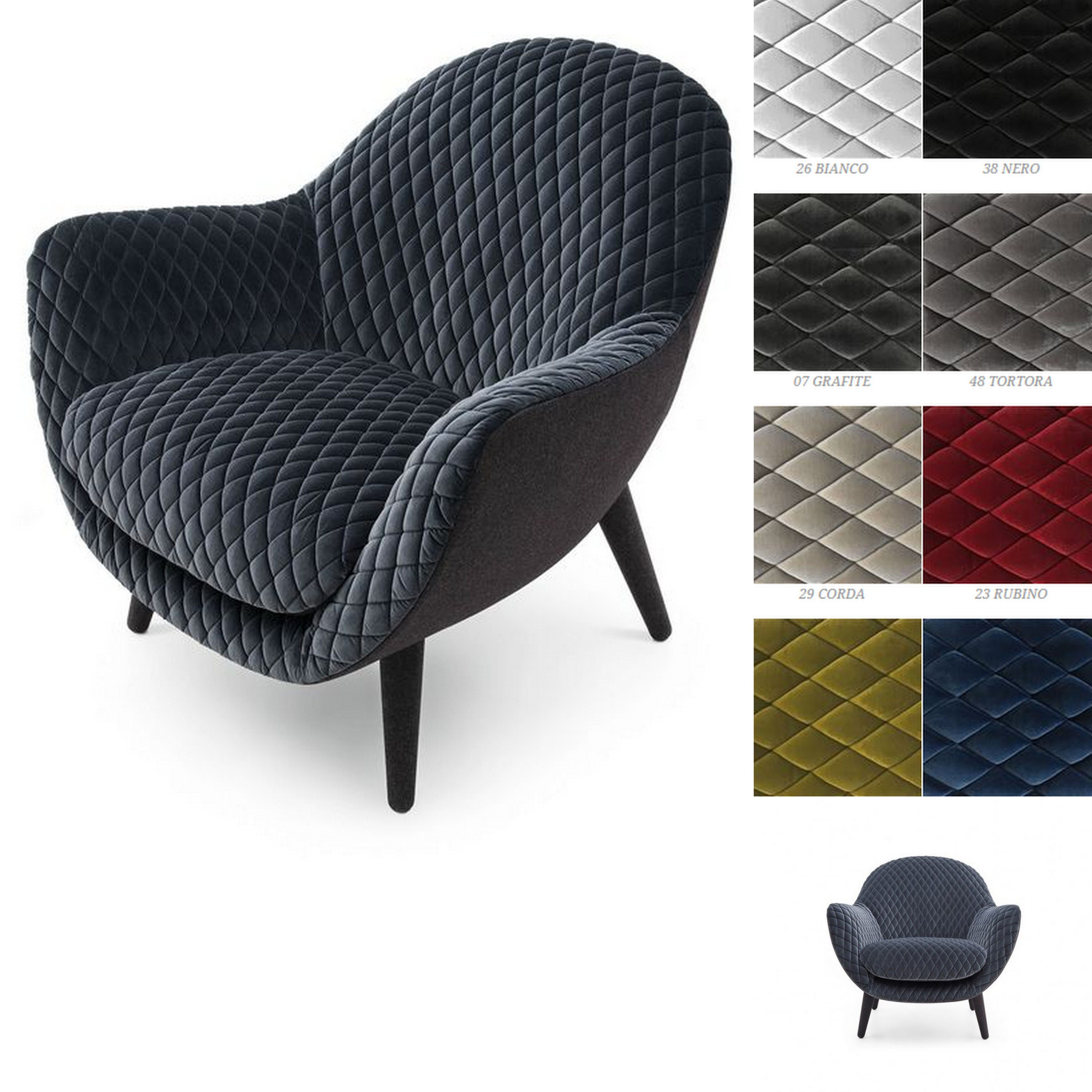 Mad Chair Poliform By Marcel Wanders Gibson Fabric