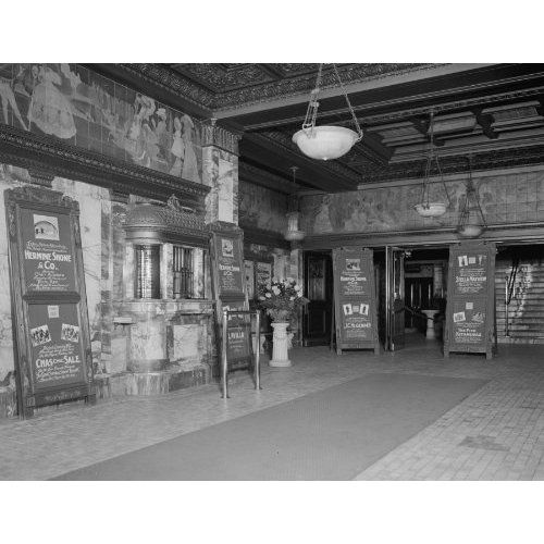 Early 1900s Photo KEITHS THEATER LOBBY: Home