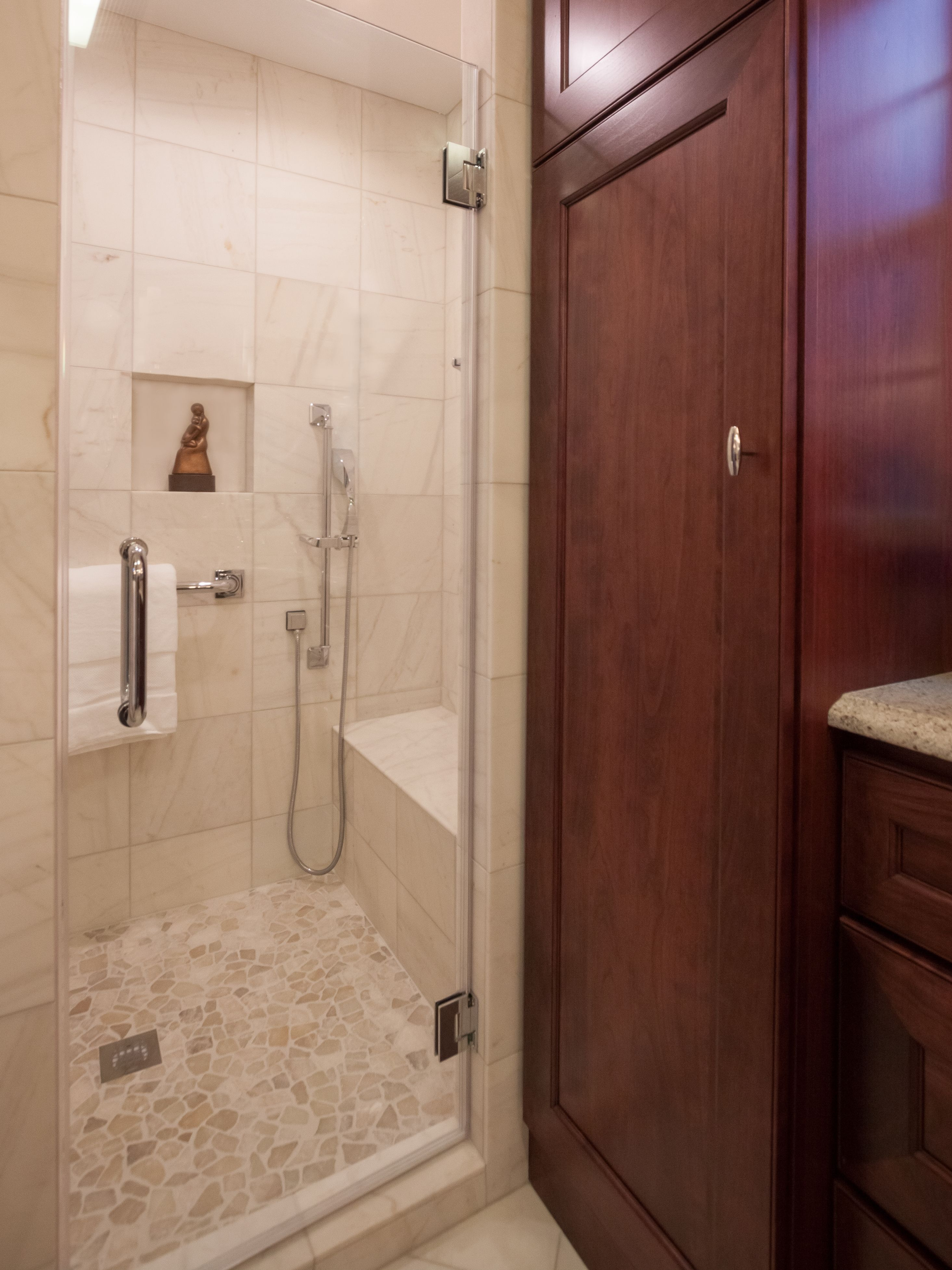 Roomy standing shower renovation. | Bathrooms | Pinterest | Standing ...