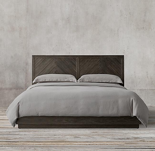 Herringbone Platform Bed Platform Bed Master Bedroom Plans Bed