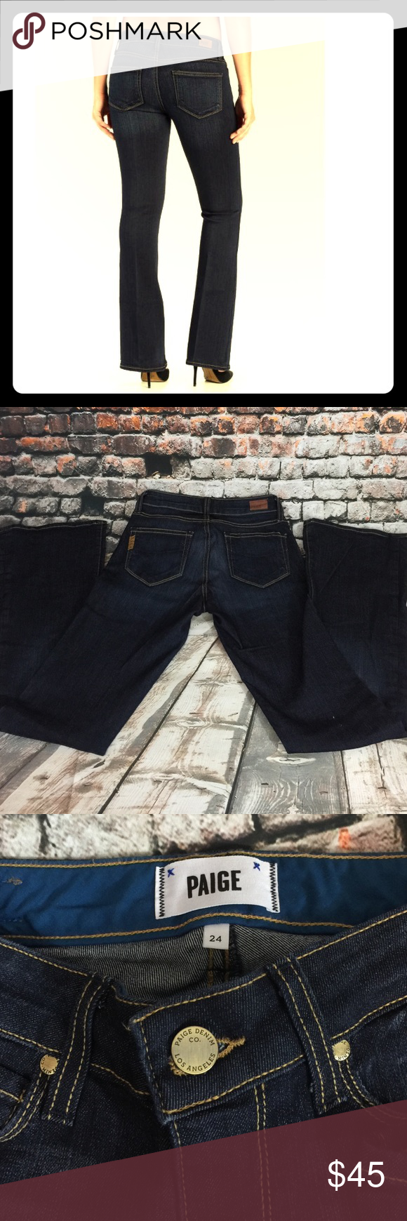 Paige jeans NWOT! Perfect for! Skyline boot petite! Size 24. Paige Jeans Jeans