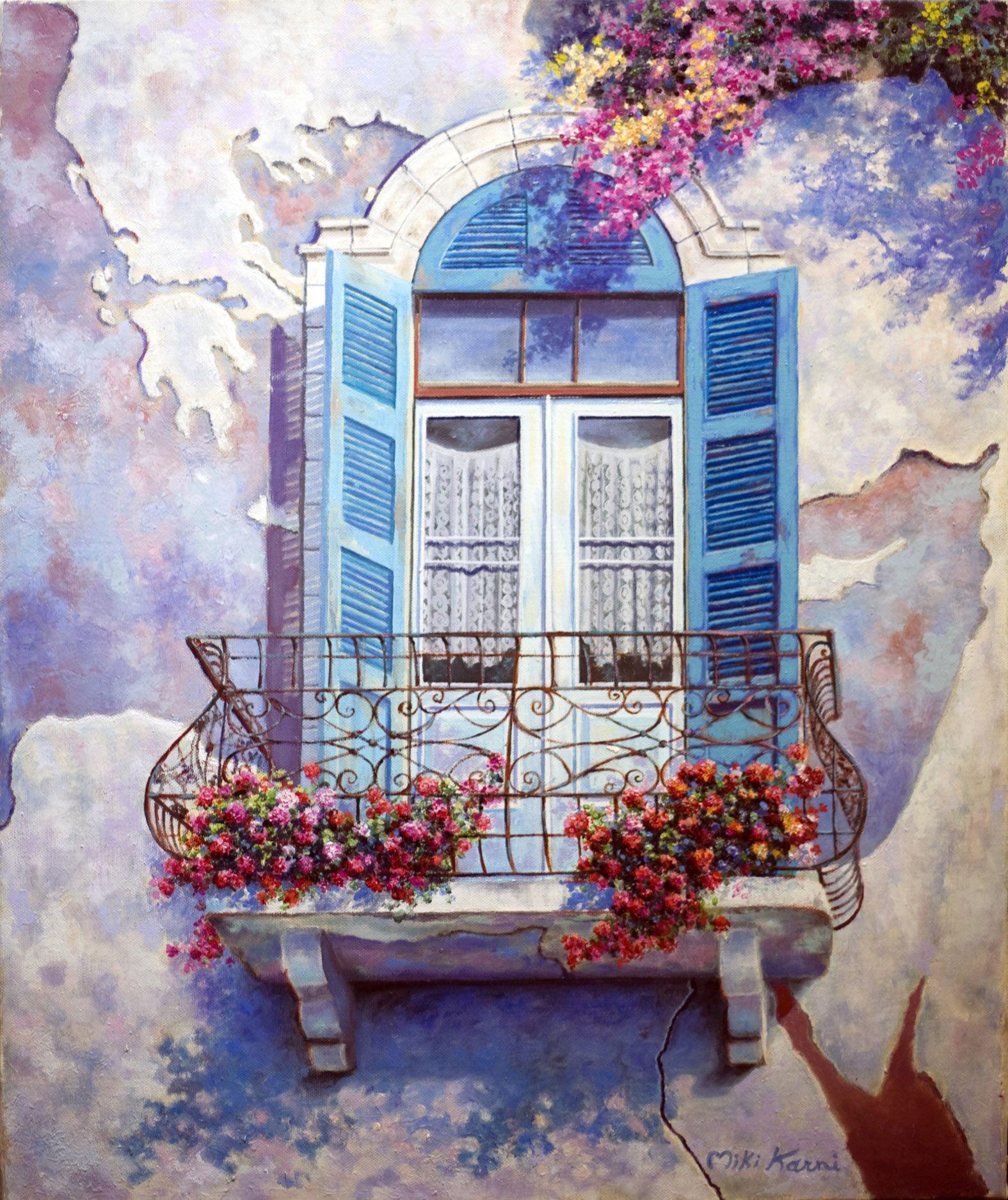 Картинка нарисованная балкон