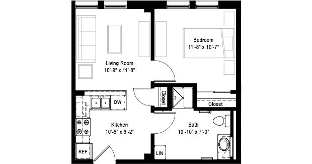 900 Sq Ft Open Floor Plans 1 Bedroom 1 Bathroom