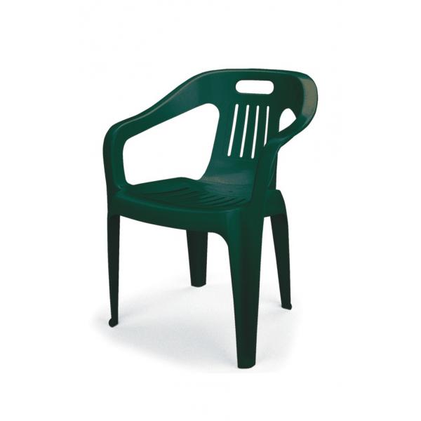 Poltrone in plastica impilabili modello club da esterno for Plastica riciclata prezzo