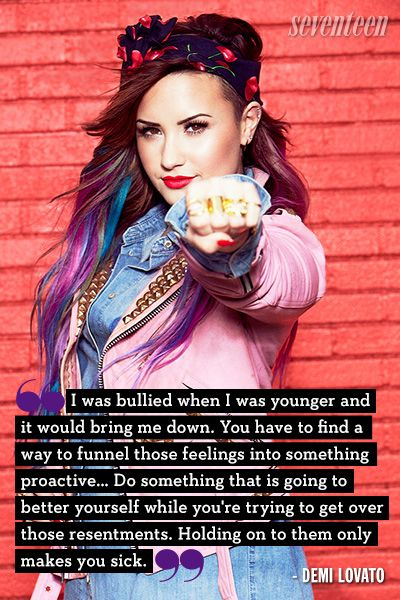 Celebs Who Opened Up About Being Bullied From Taylor Swift To Demi Lovato Bullying Quotes Celebration Quotes Demi Lovato Quotes