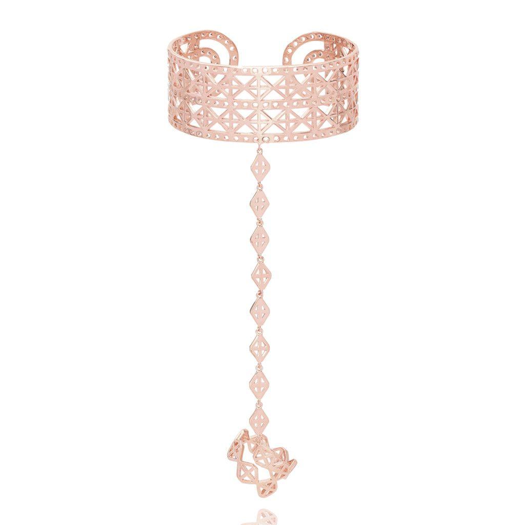 Rhomboid Ring And Bracelet