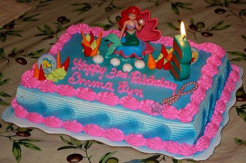 Little Mermaid Birthday Cake Image Dexie Wharton girls bday