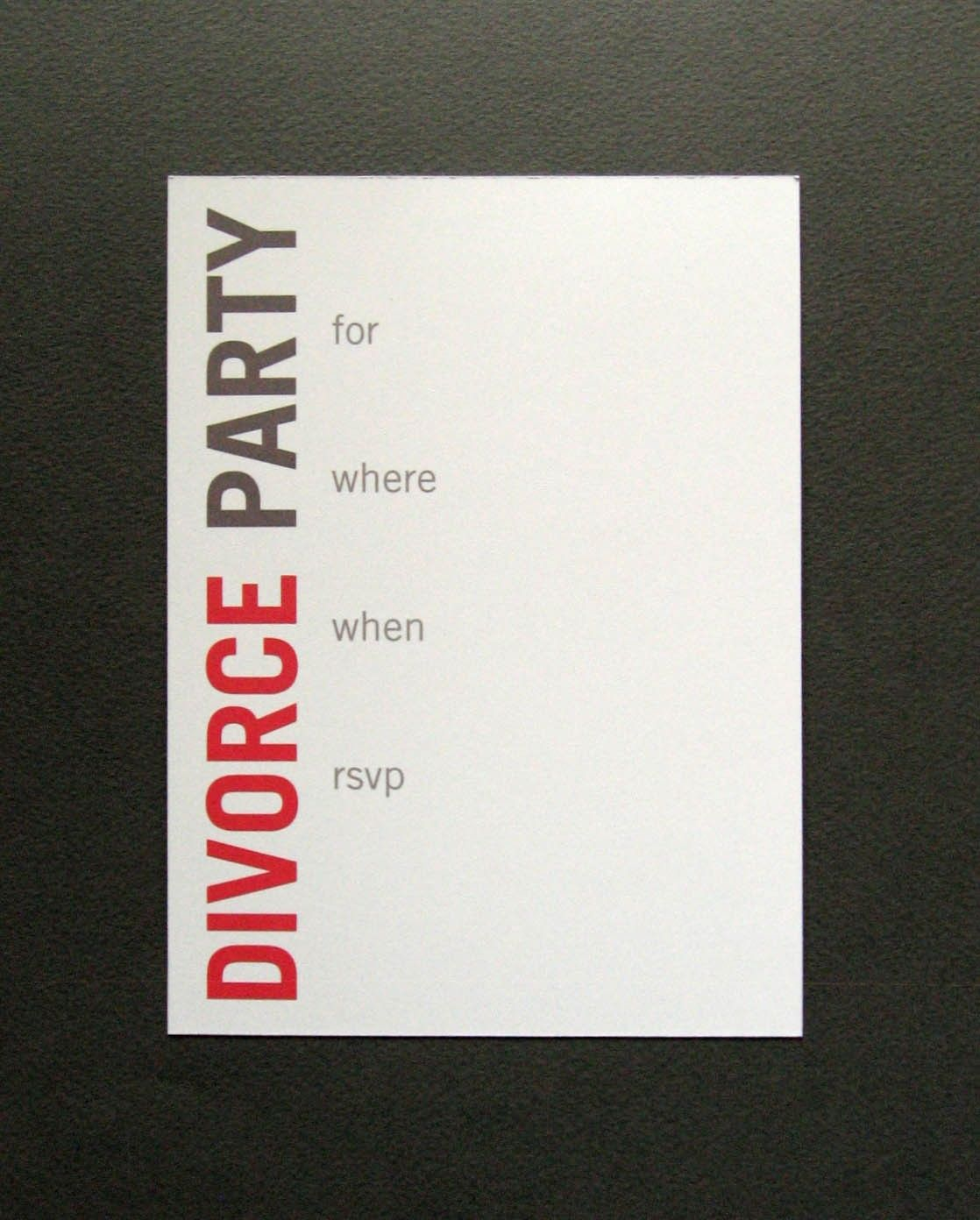 Divorce Party Invitation - customization and mailing available ...